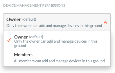 Ground settings - Device management permissions