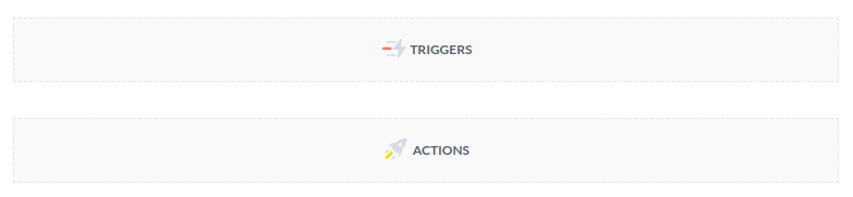 Drop areas for triggers and actions